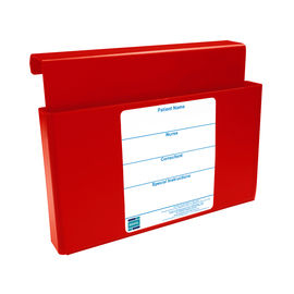 BAC/LS/RED Patient Chartboard Holder - Red - Landscape